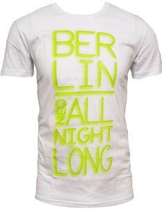 Adidas NEO Berlin City T-Shirt weiss Herren Kurzarm 100% Baumwolle Tee Shirt Gr. M