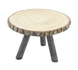Baumscheiben Blumenhocker mit 3 Holzbeinen - Modell: 34 cm (groß)