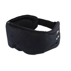 Schlafmaske mit integrierten Kopfhörern Bluetooth 5.0 - schwarz