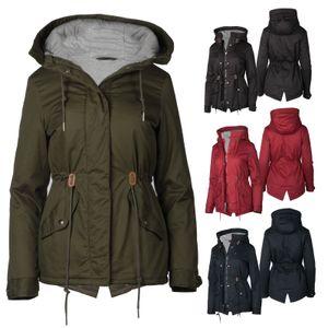 Damen Übergangs Jacke aus Baumwolle, Farbe:Rot, Größe:XXL