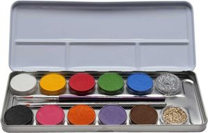 Eulenspiegel - Metall-Palette 10 Farben 2 Glitzer
