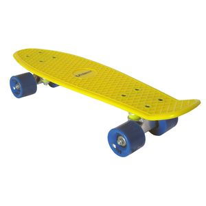 Skateboard Mini Cruiser Penny Board Retro-Board 55x14cm gelb