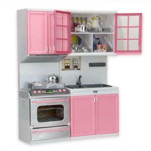 Klein Kinderküche Spielküche aus Kinderspielküche Spielzeugküche Küche für Mädchen 24.5*6.8*32.2CM