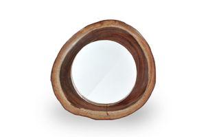 SIT Möbel Wand-Spiegel in naturgewachsenem Holzrahmen | Suar-Holz natur | B 60 x T 8 x H 60 cm | 07996-53 | Serie ROMANTEAKA