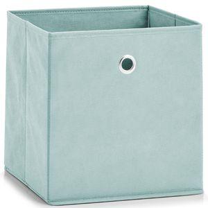Organizer aus Fleece, universell einsetzbar, eine Schachtel mit Textilien., Farbe:Pfefferminzgrün
