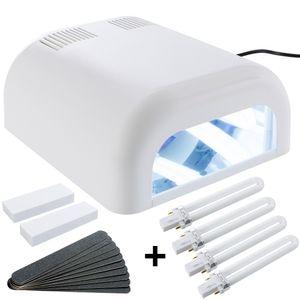 SINA UV Lichthärtungsgerät Lichthärtegerät UV Lampe 8-Röhren weiß UV Gel + Timer