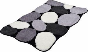 Badematte Kleine Wolke »Stone« schwarz Höhe 15 mm rutschhemmend 70x120 cm