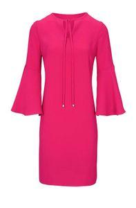 Rick Cardona Damen Designer-Kleid mit Volants, pink, Größe:40