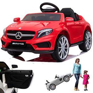 Mercedes GLA45 AMG GLA 45 12V Elektro Kinderauto elektrisch Kinder Elektroauto mit Fernbedienung und öffnenden Türen Rot