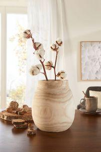 Dekovase 'Wood' naturbelassene Dekoration dekorativer Look Paulownia Holz