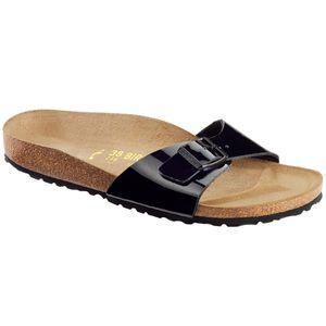BIRKENSTOCK Madrid Damen Slipper Schwarz Schuhe, Größe:40
