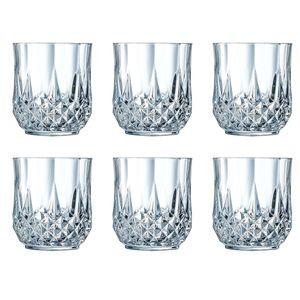 Cristal d'Arques 23227 Longchamp ECLAT Whiskybecher 320 ml, Glas, klar (6er Pack)