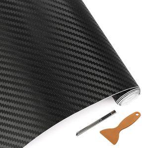 Premium 3D Carbon Folie Schwarz Auto Folie Klebefolie Auto Carbonfolie 3D-Struktur Taktile Struktur Selbstklebende Auto-Klebefolie