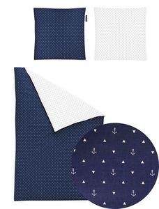 Irisette Mako-Satin Bettwäsche Set Bettwäsche 2 teilig Bettbezug 155 x 220 cm Kopfkissenbezug 80 x 80 cm Jessica 8256-21 blau