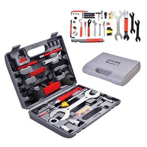 COSTWAY 44 TLG. Fahrrad Werkzeugkoffer, Fahrradwerkzeug Reparaturset, Multifunktionswerkzeug Set, Multitool Fahrradwerkzeugset