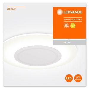 LEDVANCE FLAT LED Wand- und Deckenleuchte Warmweiß Ø 38 cm Kunststoff Grau