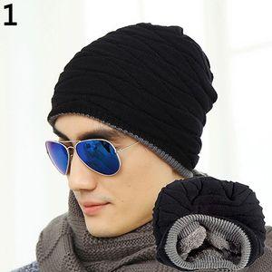 Mode Mütze Männer Winter warm Kunstpelz gefüttert Baggy Hat Ski Schädel Hip-Hop Cap