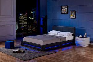LED Bett ASTEROID- Variantenauswahl, Farbe:schwarz, Größe:160 x 200 cm