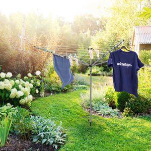 relaxdays Wäschespinne 49m Leine mit Erdspieß