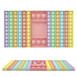 Bunt Push It Pop Fidget Bubble Pop Spielzeug Schachbrett Spiel Mit 2 Würfeln Trend Toy, 32*19*1.7cm