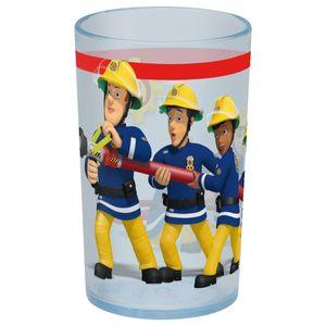 p:os 27117 Trinkbecher Feuerwehrmann Sam, Kunststoff, blau