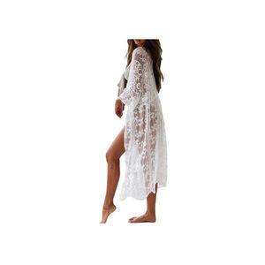 Dadanar  Häkeln Sie Kimono Cardigan Bikini Cover-Up, Ausgezeichnete Spitze Strand Poncho Strandkleid