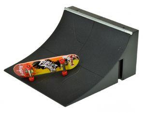 fingerskateboard mit Rampe 9 cm 2-teilig schwarz