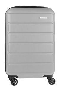NOWI Hartschalenkoffer Silber Handgepäck 55 cm 4-Rollen Zahlenschloss