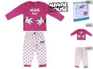 Baby-Pyjama Minnie Mouse 7672 Pink Weiß 12 Monate