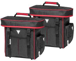 Fahrradtasche 16J030-C07 Gepäckträger Tasche schwarz/rot 2er Set
