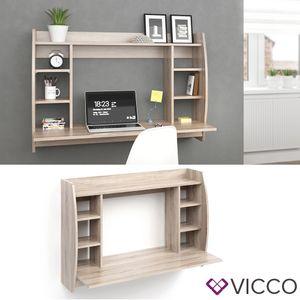 Vicco Wandschreibtisch MAX Sonoma Eiche Wandtisch Schreibtisch Wandregal Bürotisch PC
