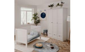 Babyzimmer Landström 182 weiß 2-teilig 70x140cm Babybett Wickelkommode
