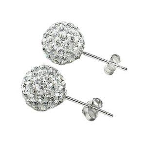 1 Paar 925 Silber Swarovski Kristallkugel Ohrstecker Ohrring 10mm Prom