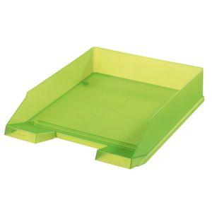 Herlitz Ablagekorb / Briefkorb / Briefablage / Farbe: transluzent hellgrün