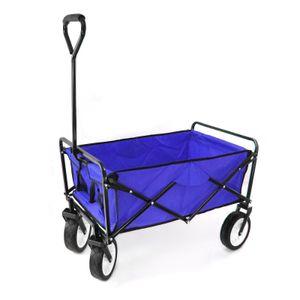 Garten Transport Faltwagen Handwagen Bollerwagen klappbar bis 80kg blau