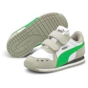 Puma Cabana Racer SL V Inf Unisex Kinder Baby Schuhe Sneaker Klettverschluss, Größe:EUR 23 / UK 6 / 14.5 cm, Farbe:Weiß (Puma White-Island Green)