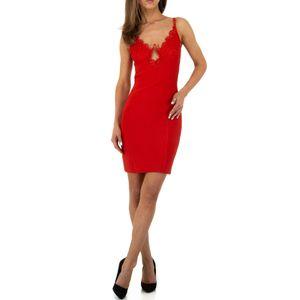 Ital-Design Damen Kleider Cocktail- & Partykleider Rot Gr.s