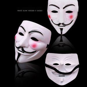 2 Stück New Anonymous Hacker V Halloween Kostüm Party Gesichtsmaske V für Vendetta Maske Guy Fawkes Maske
