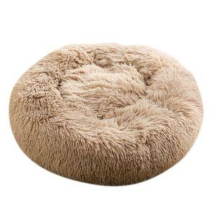 Haustier Hund Schlafsofa Indoor Pet Runde Gemütliche Komfortbett Nest Kamel-60cm wie beschrieben