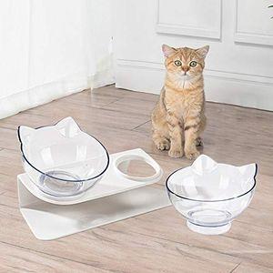 2in1 Katze Futterschüssel Katzennapf Hundenapf Schräg 15° Futternapf mit Katzenohr Design