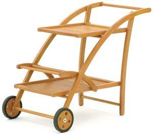BELARDO Servierwagen Holz Teewagen Eukalyptus Hartholz