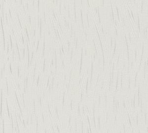 A.S. Création Strukturprofiltapete Simply White 4 Tapete metallic weiß 10,05 m x 0,53 m 307354 3073-54