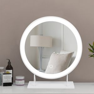 WYCTIN Kosmetikspiegel Schminkspiegel Mit LED Beleuchtung Make Up 40*40cm Kaltes Weiß