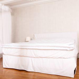 Lumaland Steppdecke 200x200cm Bettdecke aus 100% Polyester mit Mikrofaserfüllung für 4 Jahreszeiten