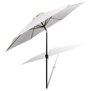 Huicheng 3m Sonnenschirm Strandschirm Gartenschirm Sonnenschutz Weiß / Rund / Stahl / Polyester