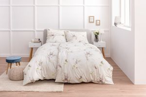 Estella Mako Jersey Bettwäsche 155x220 Lilac Blütenzweige natur flieder 6933-230