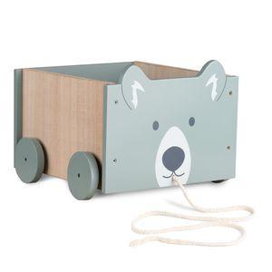 Navaris Spielzeugkiste Kiste Aufbewahrung für Spielzeug - Aufbewahrungsbox für Kinderzimmer - 25,5x24x20cm Spielkiste für Kinder - mit Rädern