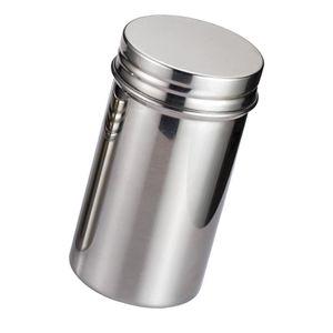 1 Stück Edelstahl Tee Glas Groß Silber Gewürzdose (n)
