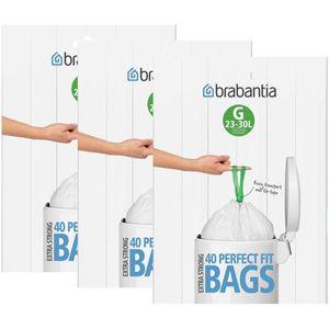 3x Brabantia Müllbeutel Spenderverpackung 30 l (G)40 Stück