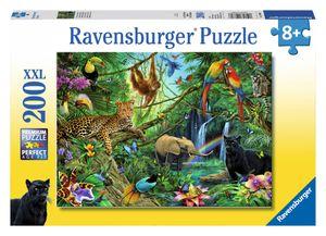 200 Teile Ravensburger Kinder Puzzle XXL Tiere im Dschungel 12660